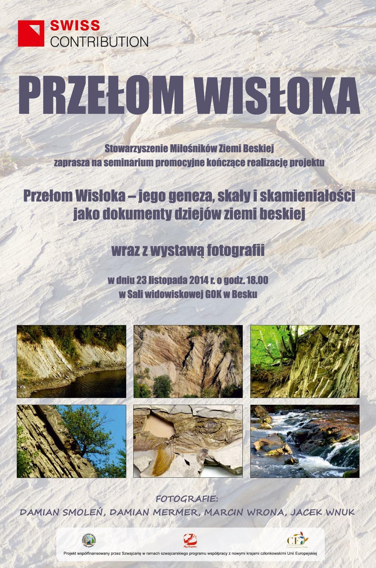 Seminarium promocyjne projektu o Przełomie Wisłoka wraz wystawą fotografii
